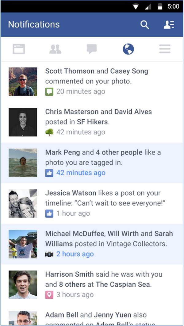 Descargar Facebook para Android c