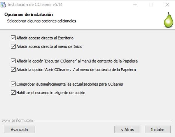 cómo instalar ccleaner b