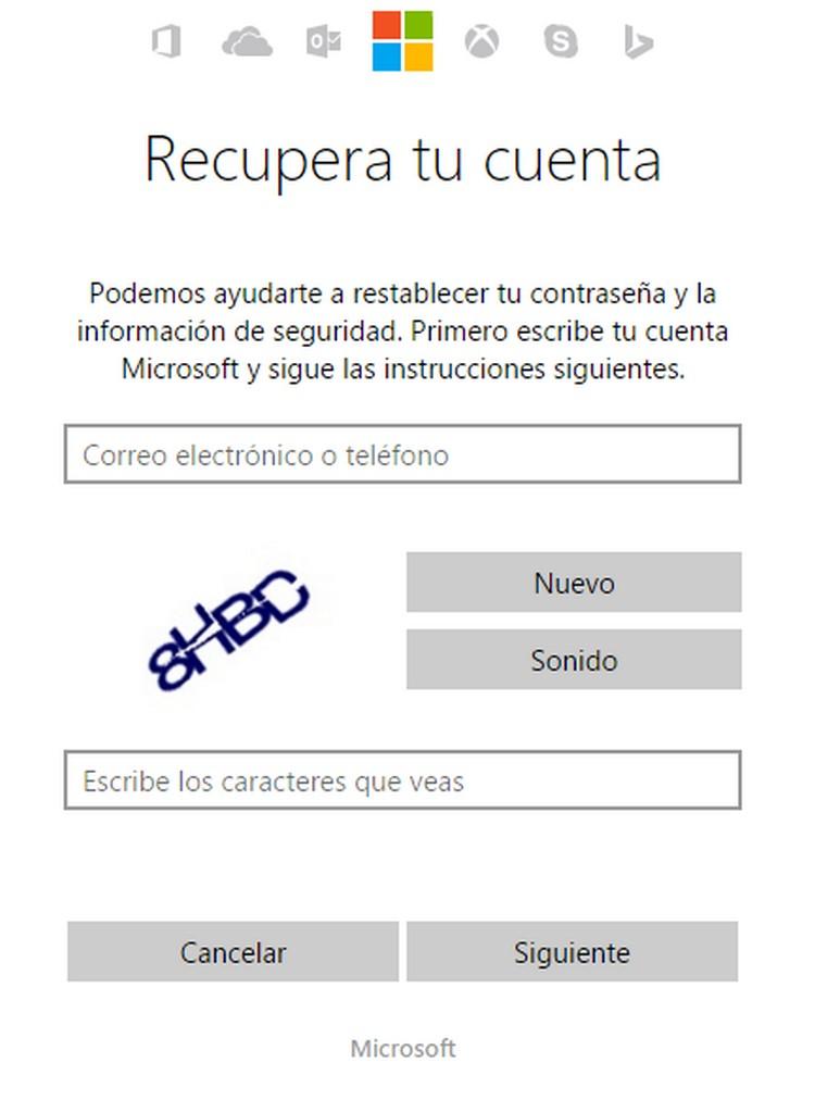 cómo denunciar el robo de una cuenta de Hotmail b
