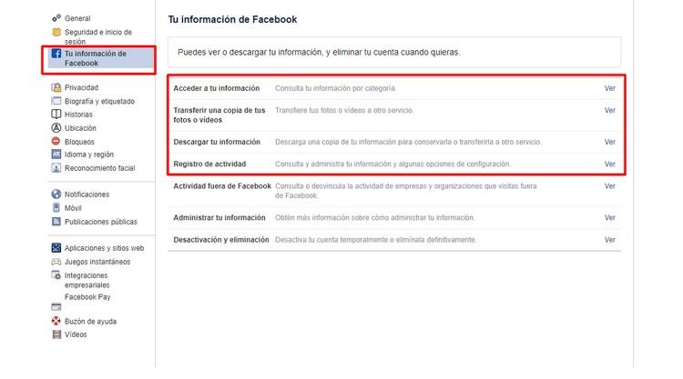 Descubre todo lo que Facebook sabe de ti